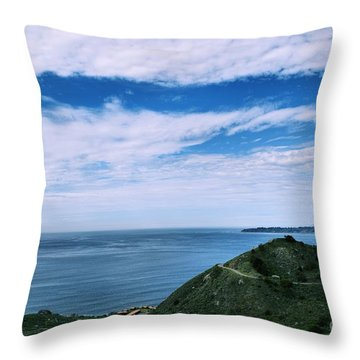 A Beautiful Day On The Coast Throw Pillow