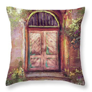 Throw Pillow featuring the digital art A Beautiful Mystery by Lois Bryan