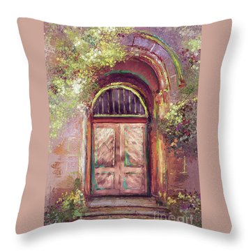 A Beautiful Mystery Throw Pillow by Lois Bryan