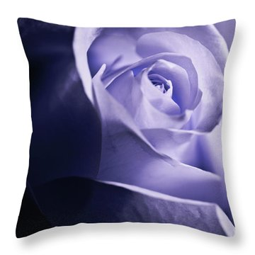 Throw Pillow featuring the photograph A Beautiful Purple Rose by Micah May