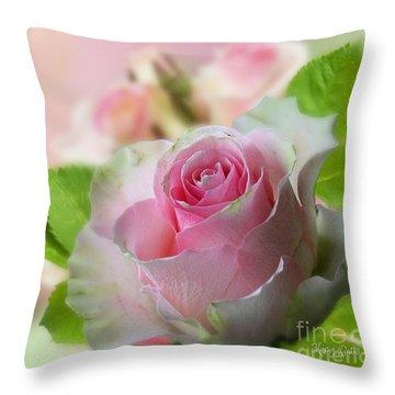 A Beautiful Rose Throw Pillow