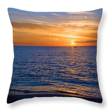 A Beautiful Sunset In Naples, Fl Throw Pillow