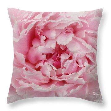 A Beauty At Close Range Throw Pillow