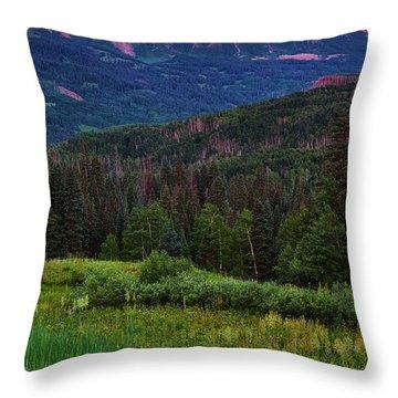 Throw Pillow featuring the photograph A Beckwith Sunrise by John De Bord