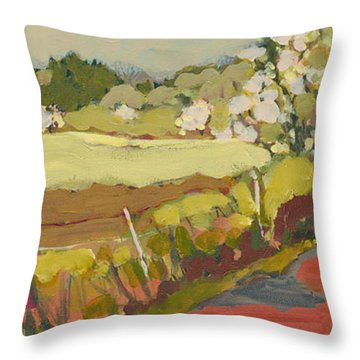A Bend In The Road Throw Pillow