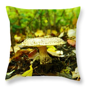 A Big Mushroom Throw Pillow