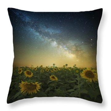 A Billion Suns Throw Pillow by Aaron J Groen
