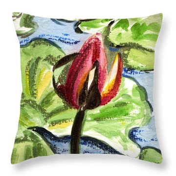 Throw Pillow featuring the painting A Birth Of A Life by Harsh Malik