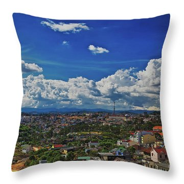 Throw Pillow featuring the photograph A Bit Of Disneyland In Dalat, Vietnam, Southeast Asia by Sam Antonio Photography