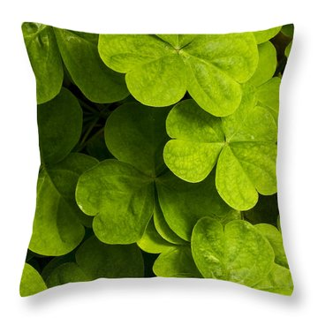 A Bit Of Green Throw Pillow