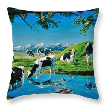 A Black And White Field Throw Pillow