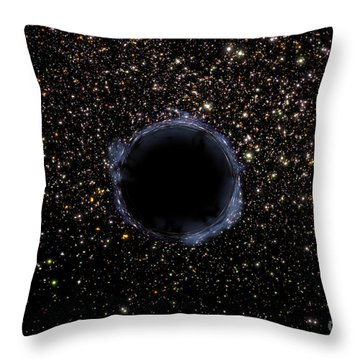 A Black Hole In A Globular Cluster Throw Pillow