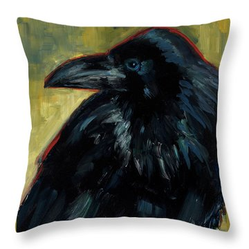 Throw Pillow featuring the painting A Black Tie Affair by Billie Colson