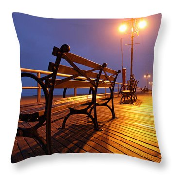 A Blessing Throw Pillow by Mitch Cat