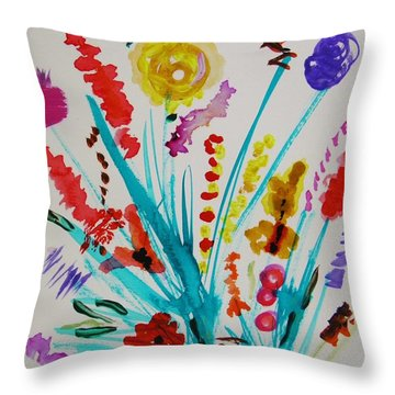 A Bloom For Everyone Throw Pillow by Mary Carol Williams