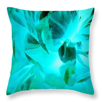 A Bloom In Turquoise Throw Pillow