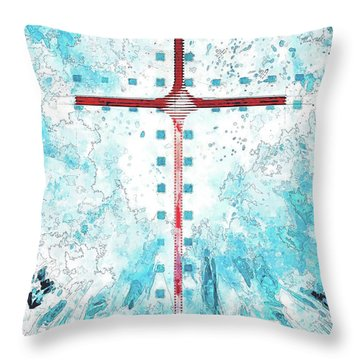 A Blue Sky Throw Pillow