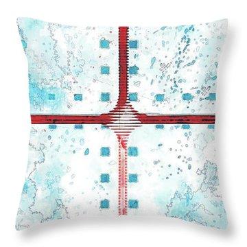 A Blue Sky Throw Pillow