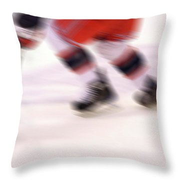A Blur Of Ice Speed Throw Pillow by Karol Livote