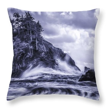 A Blustery Day Throw Pillow