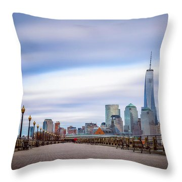 A Boardwalk In The City Throw Pillow by Eduard Moldoveanu