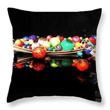 A Boatload Of Chihuli Throw Pillow