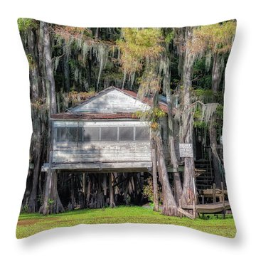 A Boggy Tea Room Throw Pillow