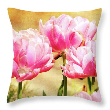 A Bouquet Of Tulips Throw Pillow