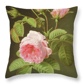 A Branch Of Roses Throw Pillow
