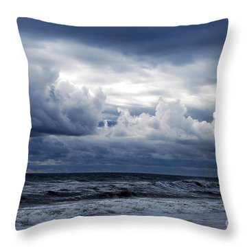 A Break In The Storm Throw Pillow