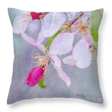 Throw Pillow featuring the photograph A Breath Of Spring by Betty LaRue