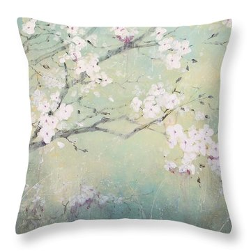 A Breath Of Spring Throw Pillow by Laura Lee Zanghetti