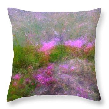 A Breeze In Monet's Garden Throw Pillow