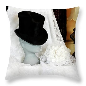 A Bridal Scene Throw Pillow