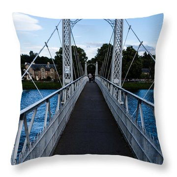 A Bridge For Walking Throw Pillow