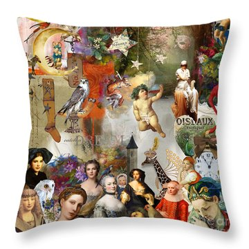 Throw Pillow featuring the digital art A Brief History Of Women And Dreams by Nola Lee Kelsey