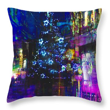 Throw Pillow featuring the photograph A Bright And Colourful Christmas by LemonArt Photography