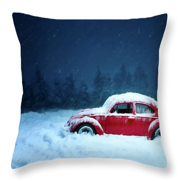 A Bug In The Snow Throw Pillow