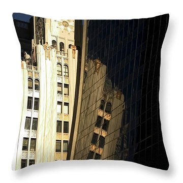 A Building Into A Building Throw Pillow by Karol Livote