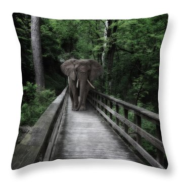 A Bull On The Boardwalk Throw Pillow