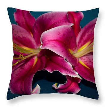 A Bunch Of Beauty Floral Throw Pillow