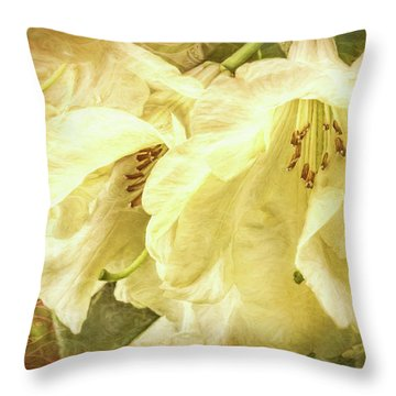 Throw Pillow featuring the photograph A Bunch Of Birthday Wishes by Jean OKeeffe Macro Abundance Art