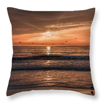 Throw Pillow featuring the photograph A Burnished Sunrise by John M Bailey