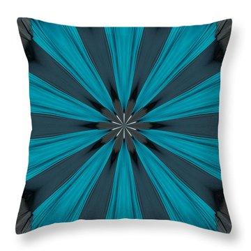 A Burst Of Blue Throw Pillow
