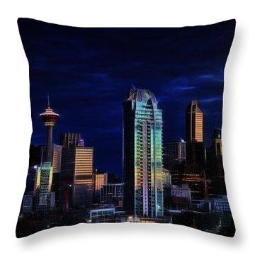 A Calgary Sunrise Throw Pillow