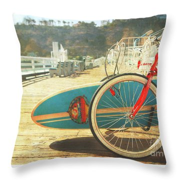 A California Postcard Throw Pillow