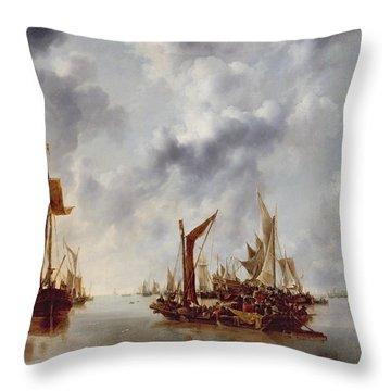 A Calm Throw Pillow by Jan van de Capelle