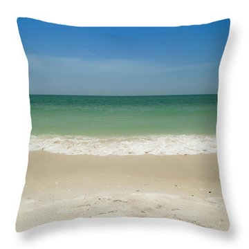 A Calm Wave Throw Pillow by Christopher L Thomley