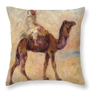 A Camel Throw Pillow by Pierre Auguste Renoir