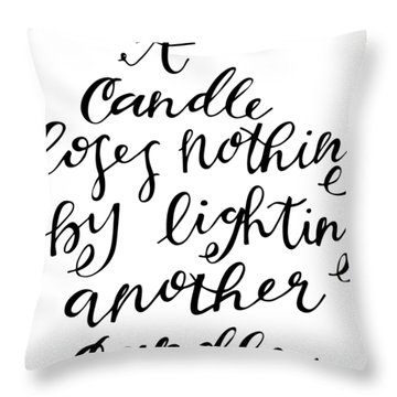 A Candle Throw Pillow
